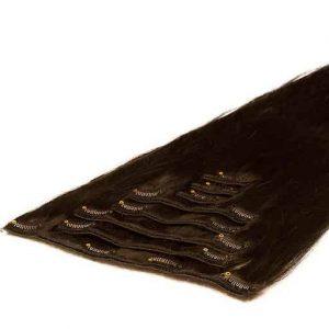 Lasni podaljški Clip On 50cm 70g 1C Mocha Rjava-0
