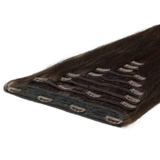 Deluxe Clip On 50cm 200g 02 Temno Rjava-0