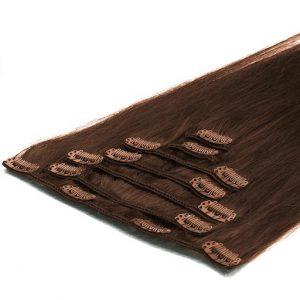 Lasni podaljški Clip On 50cm 70g 04 Cokoladno Rjava-0