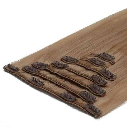 Lasni podaljški Clip On 50cm 70g 16 Pešcena Blond-0