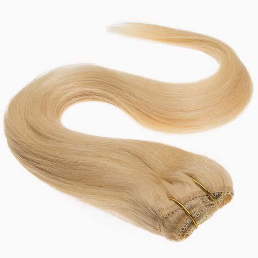 Lasni podaljški Clip On 38cm 70g 22 Zlato Blond-1446