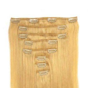 Lasni podaljški Clip On 60cm 160g 613 Intenzivno Svetlo Blond-0