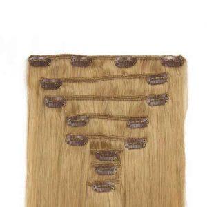 Lasni podaljški Clip On 60cm 160g 16 Pešcena Blond-0