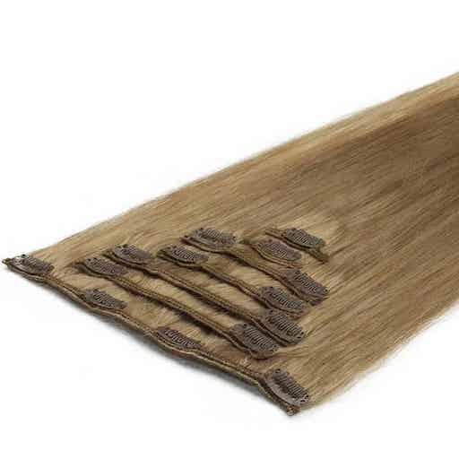 Lasni podaljški Clip On 50cm 70g 18 Bež Pešcena Blond-0