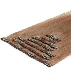 Lasni podaljški Clip On 50cm 70g 27 Temno Blond-0