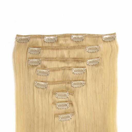 Lasni podaljški Clip On 60cm 160g 60 Blond-0