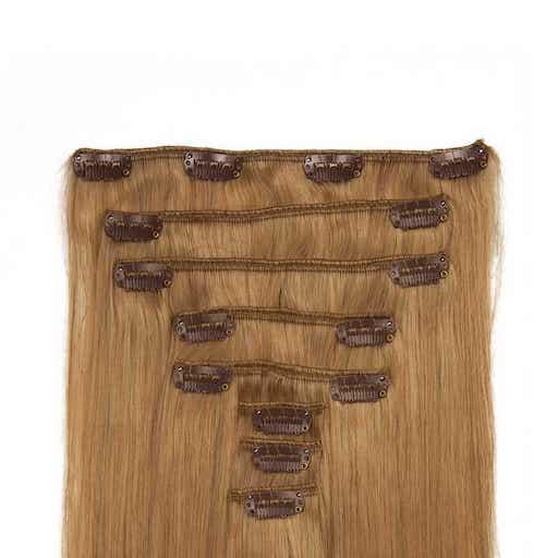 Lasni podaljški Clip On 60cm 160g 27 Temno Blond-0