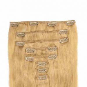 Lasni podaljški Clip On 60cm 160g 22 Zlato Blond-0