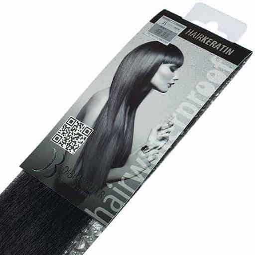 Keratinski podaljški Di Biase Hair 40cm 20kom 1B-0
